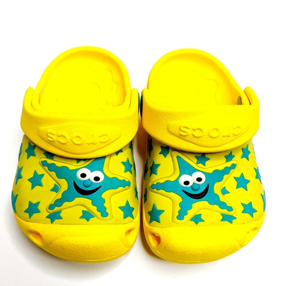NWT Crocs Isabella Star Fish Toddler Girls Mary Jane Clogs Sky Blue SELECT SIZE